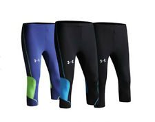 """NEW! AUTH UA UNISEX ATHLETIC/RUNNING COMPRESSION 3/4 PANTS (BLK/BLUE, LG/32-34"""")"""