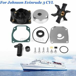 Water Pump Impeller Kit For Johnson Evinrude 3 CYL 60 65 70 75HP Outboard 432955