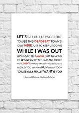 5 Seconds Of Summer - She Looks So Perfect - Song Lyric Art Poster - A4 Size
