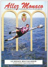 Programme Monaco France - Real Valladolid Spain 1989 CWC