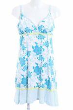 MAUI WOWIE Trägerkleid weiß-blau Blumenmuster Elegant Damen Gr. DE 40 weiß Kleid