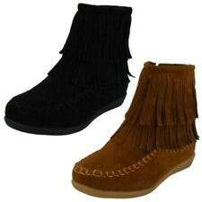 Girls Spot On Flat 'Ankle Boots'