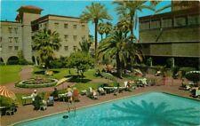 1960s Phoenix Arizona Patio Hotel Westward HO Resort Pool Petley postcard 5772
