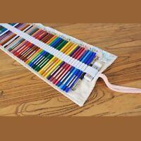 Canvas Pencil Wrap, Bleistifte Roll Pouch Case Hold fuer 48 Buntstifte Blei T3Y4