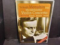 Yehudi Menuhin Plays Mendelssohn Violin Concerto (DVD, 2005) B327