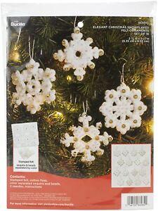 Bucilla Felt Ornaments Applique Kit Set Of 16-Elegant Christmas Snowflakes