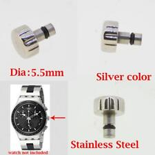 Chronograph Pusher Button Crown 5.5mm Fits Swatch Irony Chrono Watch Spare Parts
