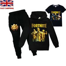 Kids Boys Girls Fortnite Outfit Sweatshirt Hoodie Pants Tracksuit Sportswear Set
