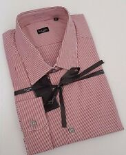 Paul Smith Shirt Size 17.5 LARGE SLIM FIT Stripes Red