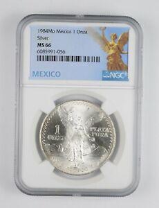 1984 MS66 - Mexico Mexican Libertad Graded NGC 1 oz Silver .999 Fine *031