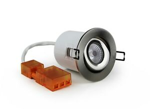 DAXLITE 10W LED TILT IP40 FIRE RATED DOWNLIGHT 3000K WARM WHITE  RECESSED