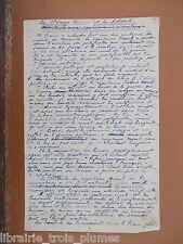 ✒ Manuscrit A.S. Georges de LA FOURCHARDIERE - 2 pages texte humoristique