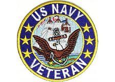 """(C19) U.S. Navy Veteran 3"""" iron on patch (2413) Military Biker Vest Cap"""