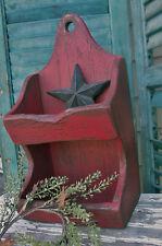 Primitive Grungy Old Red Soap Match Box Holder Shelf Pattern/Plan WN55