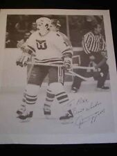 RON FRANCIS Hartford Whalers NHL Hockey Autographed Photo