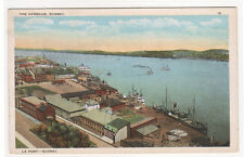 The Harbour Port Quebec Canada 1920s postcard