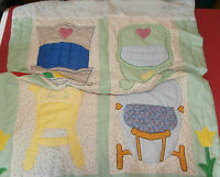 "Doll Comforter Throw Quilt Cradle Stroller Highchair Play Pockets 42"" x 57"""