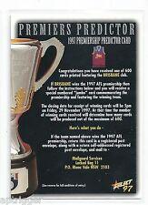 1997 Select Premiership Predictor (CC12) Brisbane