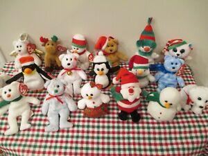 WOW!!! 20 ty Christmas Jingle Beanies! Great Teacher Set!