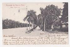 Buenos Aires,Argentina,S.A.Avenida de las Palmaras,Used,3 Argentina Stamps,1907