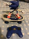 Sonic Free Riders Sonic The Hedgehog RC Skateboard Figure Need Double A Battery
