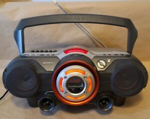 Sony CFD-G500 Boombox CD Player AM FM Radio Cassette Tape Stereo Power Woofer