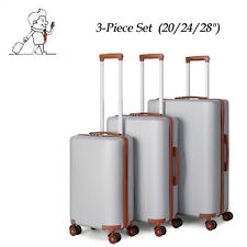 ABS Suitcases Travelling Bags Hard shell Trolley Luggage 3-Piece Set (20/24/28