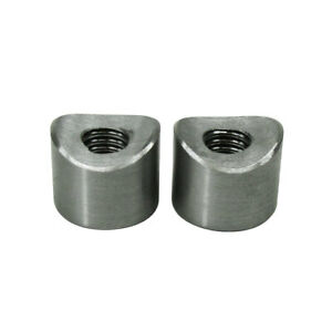 """3/8""""-16 SHORT Coped Threaded Steel Bungs for 1"""" - 1.25"""" OD Tubing QTY 2 USA MADE"""