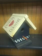Dutch Country Hearts 💕 Handmade & Painted Birdhouse Collect Home For Your Birds