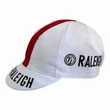 Team Raleigh Vintage Cycling Cap Black/White/Red Made in Italy