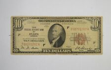 1929 10 National Currency Atlanta, GA Federal Reserve Bank Brown Seal *241