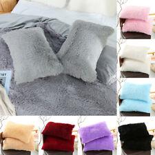 Fashion Soft Faux Fur Pillow Case Fluffy Plush Cushion Cover Throw Home Décor