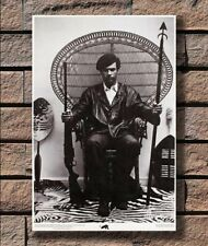 W104 Huey Newton Seated In A Wicker Chair Poster Hot 40x27 36x24 18inch