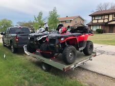 Like New 2016 Polaris ATV Red and White Only 16hrs!  (2) Includes Trailer.