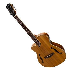 New Martinez Jazz Hybrid Small Body Left Handed Acoustic Guitar (Koa)
