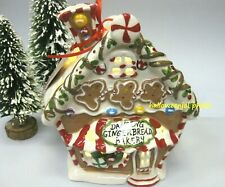 Blue Sky Clayworks Christmas Peppermint Dancing GINGERBREAD BAKERY Tealight