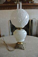 Vintage Milk Glass GWTW Banquet Oil Lamp Electrified