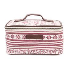 KAYLA Cosmetic Case Make-Up Travel Bag Canvas Burgundy Floral Bella Taylor