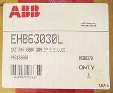 Abb Ehb63030L Ehb Breaker Line Load E6 Lugs 3 Pole 30 Amp B130000