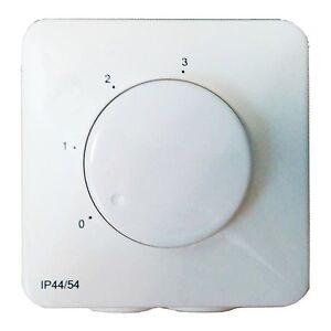 Elektronischer Drehzahlsteller für TD S&P Silent Ventilatoren 3-Stufe INTER 4P