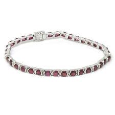De Buman Oval-cut Natural Ruby Bracelet 7.5 inch