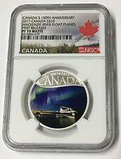 2017 $10 Canada's 150th Anniversary MacKenzie River Float Planes F/R PF 70 Matte