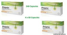 Bayer Priorin 240 Capsules - 4 x 60 Capsules - Hair Growth Loss Treatment