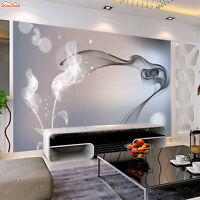 3D Abstract Smoke Shape Self-adhesive Wall Mural Wallpaper Photo Painting Decor