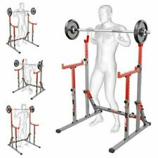 SQUAT RACK ADJUSTABLE WEIGHT LIFTING STAND POWER CAGE FRAME BENCH RACK