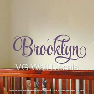 Personalized Name Wall Decal Teen Girl Room Decor Toddler Baby Nursery Sticker