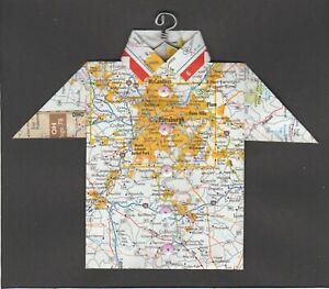 Origami Map Shirt Pennsylvania, Pittsburgh, McCandless, Bethel Park, Monongahela