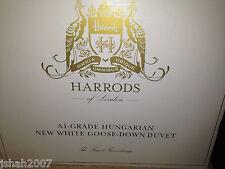 HARRODS ungherese NUOVO bianco piuma d'oca piumone MATRIMONIALE lungo 2.5 Tog * NUOVO * prezzo consigliato £ 1299