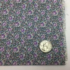 1/2 Yd Purple Lavender Teal Flowers Floral Quilting Fabric