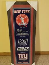 New York Giant Framed Embroidered Mascots Circa / Emblems 1950,1960,1976 & 2000